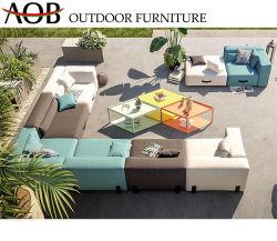 Современный дом в саду курорта деки для отдыхающих ткань угловой холл цвет мебели с кофейным столиком и диван-кровать