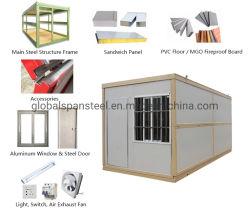 Prefabbricato pieghevole mobile prefabbricato legno vivente portatile Shiping acciaio Casa di lusso per container da ufficio, piccola e mobile