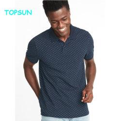 人のポロシャツの綿によって印刷される短い袖乾燥した適合の運動偶然のポロのTシャツ