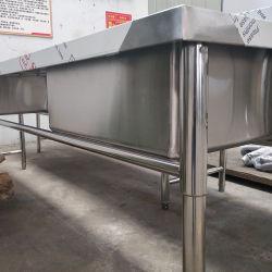 Aço Inoxidável Personalizada pia de cozinha Comercial Mesa de Trabalho / Bancada