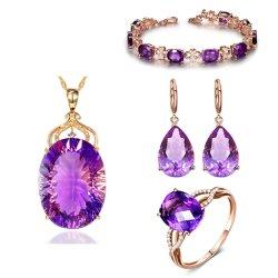 Moda 925 Sterlingjewelry Set Custom Gemstone jóias de engrenamento definido