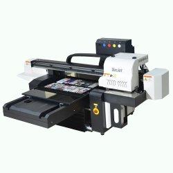 Tecjet6090 Dx5 Dx7 XP600 دعم Varnish آلة الطباعة بنفث الحبر PVC بطاقة ATM Recharge Card طابعة مسطحة تعمل بالأشعة فوق البنفسجية