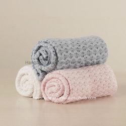 2017新しいデザイン綿のニットの赤ん坊毛布