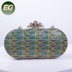 Moda bolsos de dama de noche satén Cristal Bolso Bolso de embrague EB1021