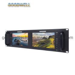 1280X 800専門TFT LCDの表示3GSDI /HDMIの入出力7インチのラックマウントLCDのモニタ