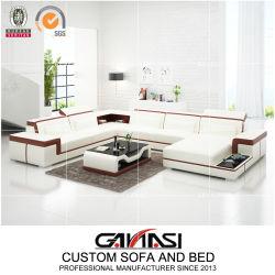 大型の最小主義の現代高級なLEDドバイのソファーの家具