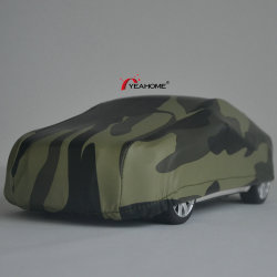 Water-Proof Fire-Resistance Anti-UV Camuflaje elástica cubierta de coche al aire libre cubierta automática