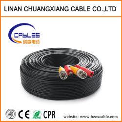 Communication de siamois Câble coaxial RG59+2c Système de sécurité de fil de cuivre