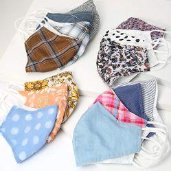 Máscara de la moda la moda de la máscara reutilizables de algodón personalizadas reutilizables se enfrentan a un paño de tela lavables máscara cubre 2 capas de máscara facial
