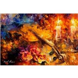 O violino e Vela 5D cheio de bricolage Arte Diamante de pintura de diamante da broca