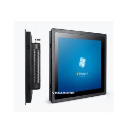 Tous les 17 pouces dans un ordinateur intégré sans ventilateur J1900 Kiosque Touch Panel PC industriel