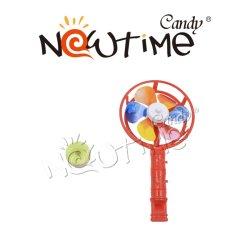 NTT18186 Mix moulin à vent colorés jouet avec saveur des fruits de sifflet Candy