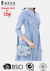 Borsa con pochette in pelle in PU stampato digitale da 14 anni Borsa a spalla Lady Fashion Print Flower Bag