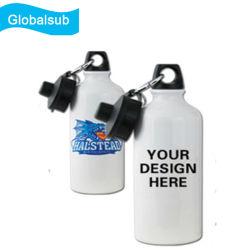 Nova duas tampas de sublimação personalizado de desportos de alumínio garrafa de água