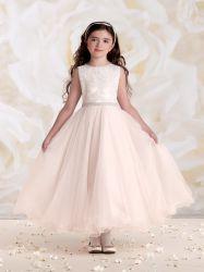 Cute Flower Girl vestido para boda vestidos de rosa de 10 años los niños apliques de organza