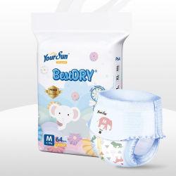 Venda por grosso de grau OEM Puxe descartável calças de treino de fraldas para bebé super absorção