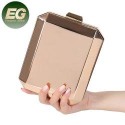 Eb1522 Box Purse Handbag حفلة زفاف سلسلة فاخرة بالنسبة للنساء السيدات الفرات حقيبة الليزر للقابض المسائي