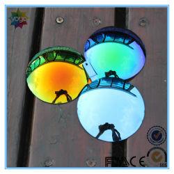 Lunettes de soleil avec miroir de revêtement de lentille de couleur Rouge de feu