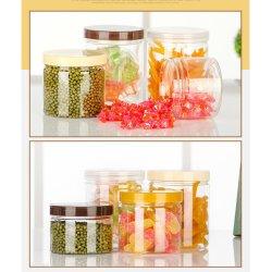 أوكازيون ساخن 200 مل طعام تجميلي تغليف شفاف جولة بلاستيك الحيوانات الأليفة JAR
