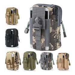 Compact 600d de Bolsillo para teléfono de la cintura la marcha del Ejército de la bolsa de la revista Bolsa de Molle táctico de la bolsa de cintura pequeña EDC mochila bandolera