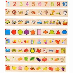 Filhos de madeira educativos Número de brinquedos e fruto da lógica de classificação Classificação Caixa de conhecimento