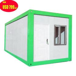 Prefabricados/Portátil modular prefabricado móvil pequeño cristal de vida de un paquete plano pequeño restaurante/ducha/wc/habitación/frame/Hotel/oficina/hogares/Casa contenedor de envío
