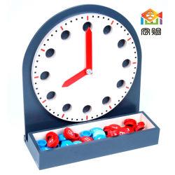 Relógio de Madeira 12 horas 24 horas movable pré-escola primária alunos Matemática Madeira Toy 4, 5, 6, 7 anos rapazes meninas