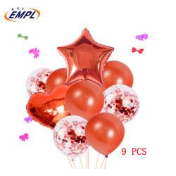 Bajo precio confeti fiesta de cumpleaños globos de helio globos para Baby Shower Niña Niño Accesorios Decoración Globos de fiesta