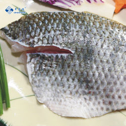 Niloticus Pescado Congelado mariscos Filete de tilapia de piel negra