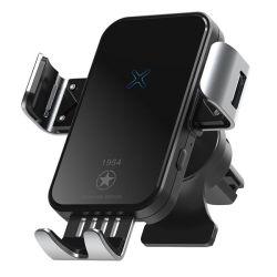 Capteur de support de téléphone de voiture automatique 15W QI Standard Téléphone cellulaire mobile iPhone Zeehoo véhiculaire de montage voiture chargeur sans fil de serrage