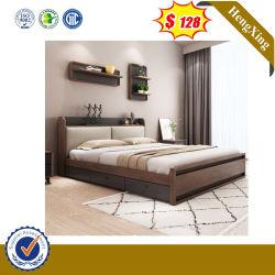 Maison moderne en bois de pliage de gros de meubles de chambre à coucher Lits Matelas Set Hôtel Canapé-lit double King