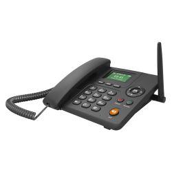 Radio FM 2 Sims Identificador de llamadas bajo coste 3G WCDMA Teléfono Cordless Desktop Fwp