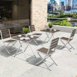 Set da tavolo per esterni in legno di plastica pieghevole per mobili da bar altamente riacquistato