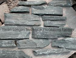 Schwarzer Schiefer-Marmor Graniteloose Steinwand, Markierungsfahnen-Stein für dekorative Wand