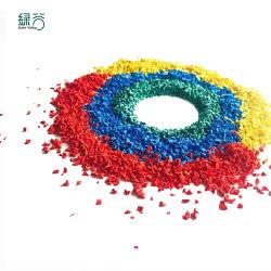 El pajote de caucho y goma de la miga de color para la zona de juegos de gránulo de caucho EPDM de césped artificial de relleno