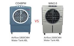 Enfriador de aire por evaporación de interior, exterior y el uso comercial 2000CMH