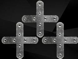 Accessoires de meubles meubles la cornière transversale du connecteur angle Croix de Fer Fer plat