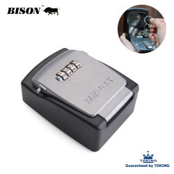(XB311) Corpo de aço porta segura o bloqueio de combinação de 4 dígitos com cadeado de segurança à prova de ABS com reposição de código na caixa de travamento