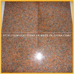 Flammé/G562 polies carreaux en pierre de granit rouge de l'érable pour pavage de plein air