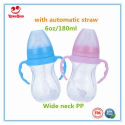 Recém-nascidos 6 oz/8oz/10oz garrafa de água do leite Biberão de boca larga