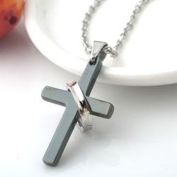 Мода ювелирные изделия из нержавеющей стали ожерелья молитвы креста мужчин подвесная цепочка