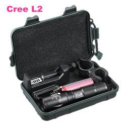 CREE ricaricabile 18650 1000lm L2 Zoomable portatile Flashligh di caccia tattico dell'indicatore luminoso della lampada di 10W LED