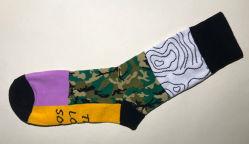 Männer und Frauen Plain Form-Entwurfs-Kleid-Socken mit Baumwolle