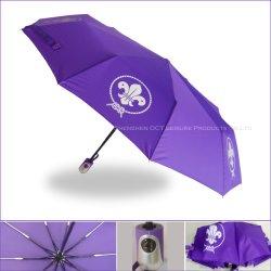 10本の肋骨の増強されたデザインの自動Open&Closeの傘