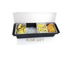 Il carrello di plastica personalizzato del condimento guarnisce gli erogatori del condimento del cassetto