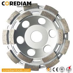 115mm Doppelreihige Diamant-Schleifbecher Rad / Beton Schleifscheiben