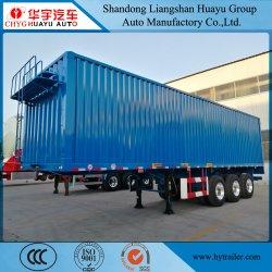 Cuadro de la utilidad del eje 3/Van lado abierto semi remolque de carga de camiones de transporte logística