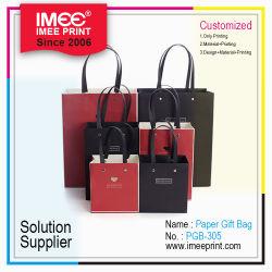 L'impression Imee Eco Friendly cordons promotionnel de l'artisanat du papier kraft sac cadeau des vêtements en carton Shopping