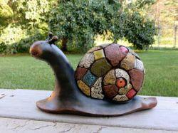 Caracol azulejos de cerámica 8. Estatua de la decoración de jardín patio de la Figurilla