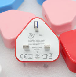 محول 5 واط المملكة المتحدة لشاحن USB لجهاز iPhone iPad